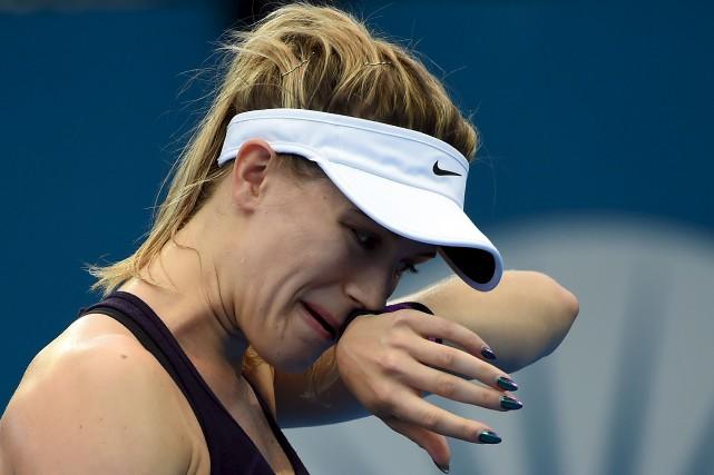 Eugenie Bouchard participait à ce tournoi pour une... (AFP, Saeed Khan)