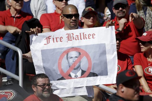 Le souhait de ce partisan des 49ers a... (Photo AP)