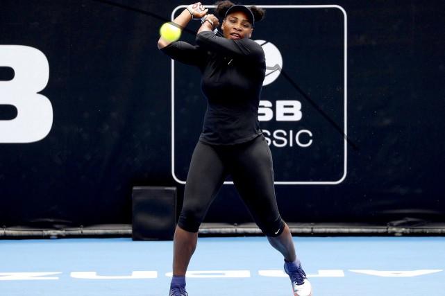 Serena Willaims à Auckland le 30 décembre 2017.... (AP)