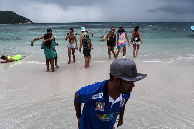 L'île de Koh Phangan est reconnue pour ses... (LILLIAN SUWANRUMPHA, archives AFP)