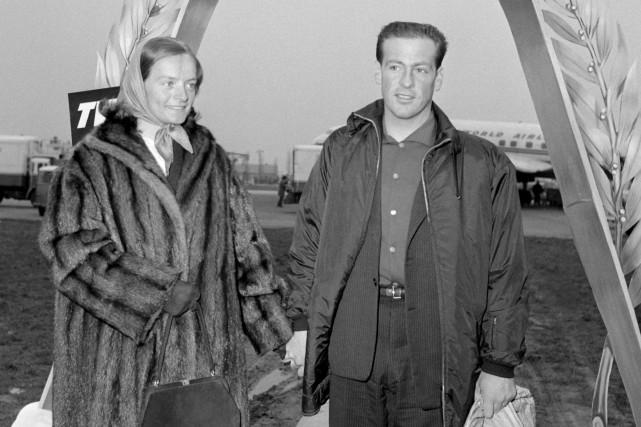 Jean Vuarnet en 1960, alors qu'il vient de... (AFP)