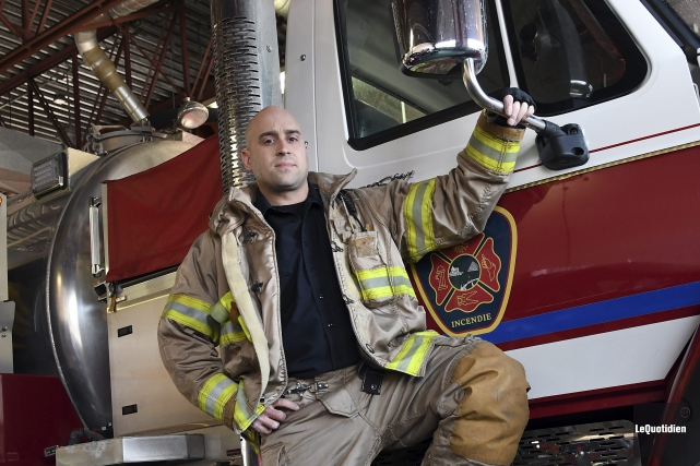 Le pompier de Saguenay François Grenier a été... (Rocket Lavoie, Le Quotidien)