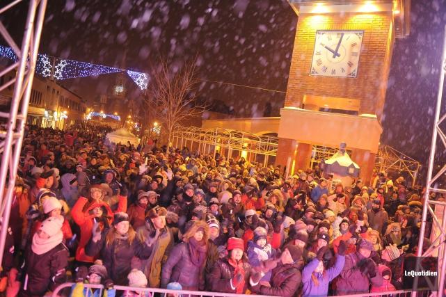 La population d'Alma a défoncé la nouvelle année... (Photo Le Quotidien, Gimmy Desbiens)