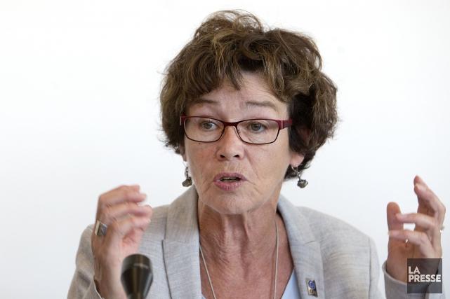 La présidente de la CSQ, Louise Chabot,accuse le... (archives La Presse)
