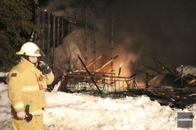 Viateur Aubé, du Service de sécurité incendie de... (Photo Le Quotidien, Isabelle Tremblay)