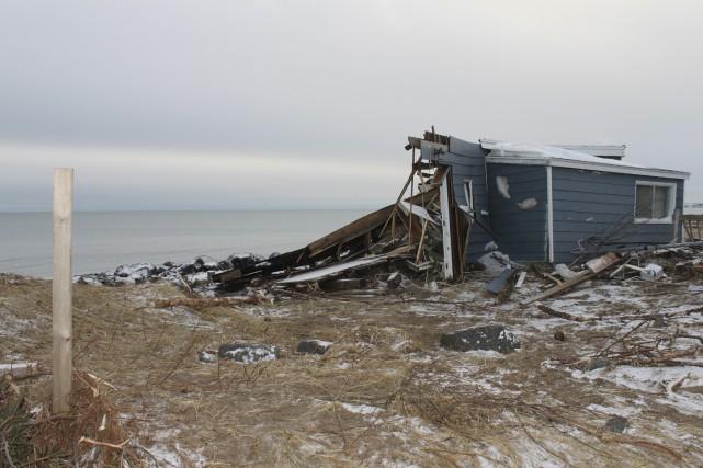 La tempête du 30 décembre a causé d'impressionnants... (Collaboration spéciale Fanny Lévesque)