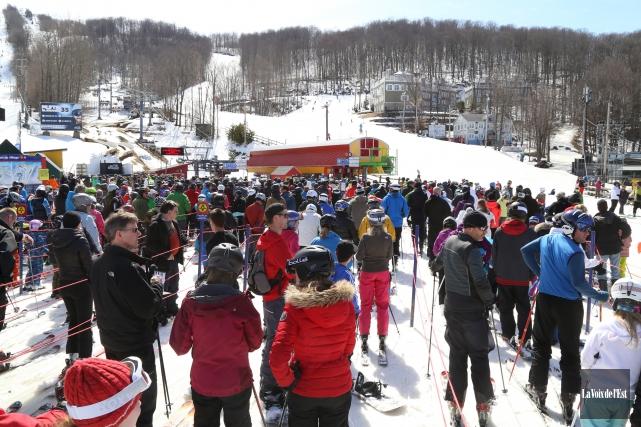 Il y a avait beaucoup de skieurs à... (archives La Voix de l'Est)