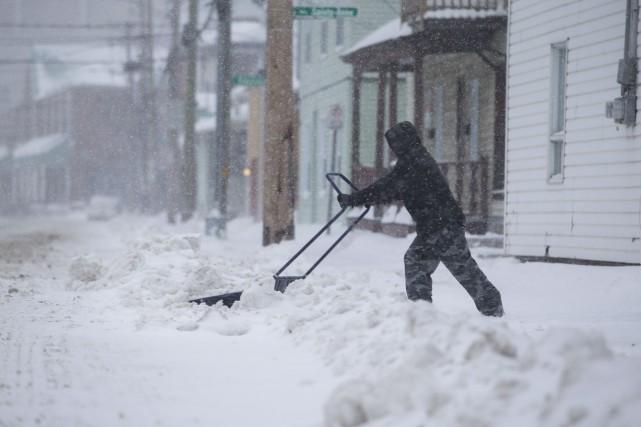 Entre 20 et 30 centimètres de neige sont... (Olivier Croteau)