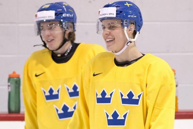 Les Suédois ne semblaient pas trop stressés, mardi,... (La Presse canadienne, Ryan Remiorz)