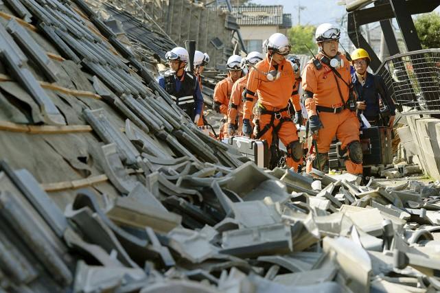 Plusieurs tremblements de terre au Japon en avril... (Kyodo, REUTERS)
