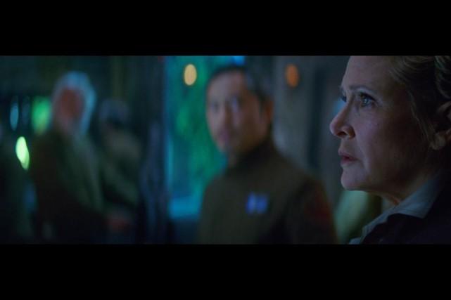Carrie Fisher avait repris son rôle de Leia... (Photo fournie par Lucasfilm)