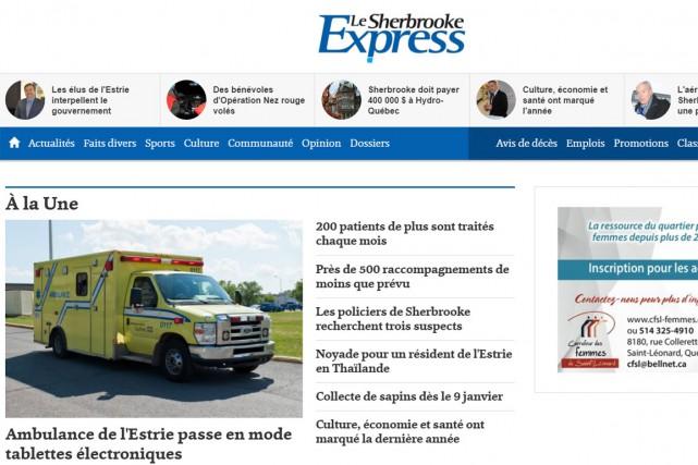 Le journal hebdomadaire le Sherbrooke Express ferme ses portes,... (Capture d'écran)