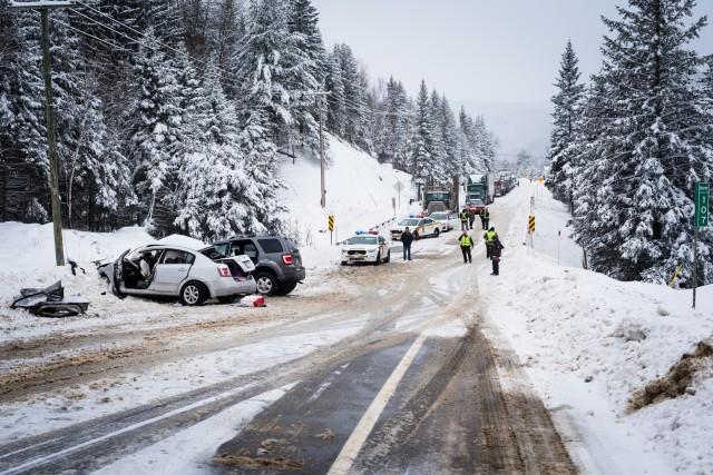 L'accident s'est déroulé sur la route 155 à... (Caroline Bérubé)
