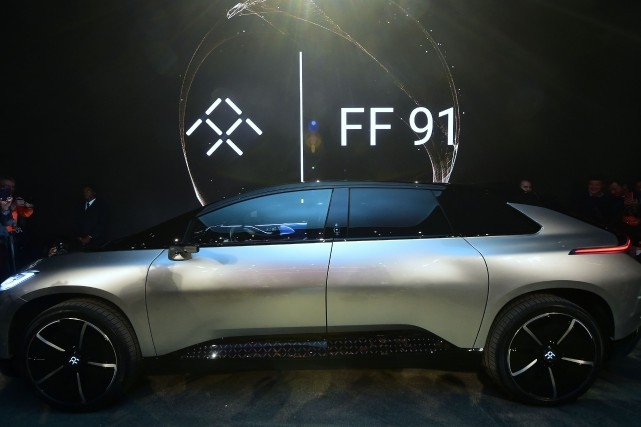 Le nouveau constructeur automobile californien Faraday Future, qui ambitionne...