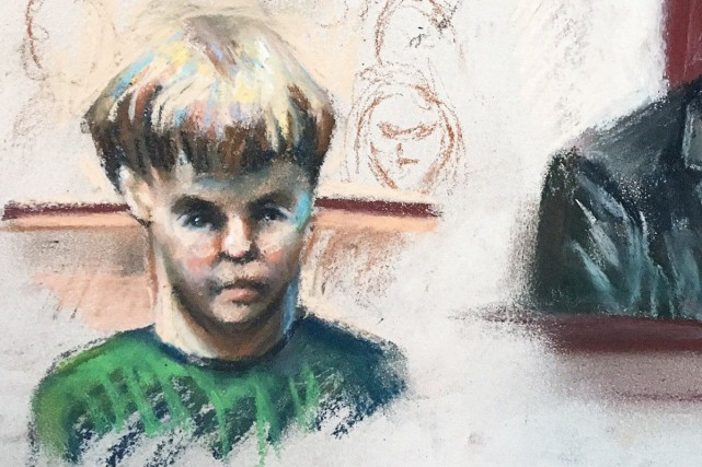 Un croquis de Dylann Roof à son procès,... (Photo Robert Maniscalco, REUTERS)