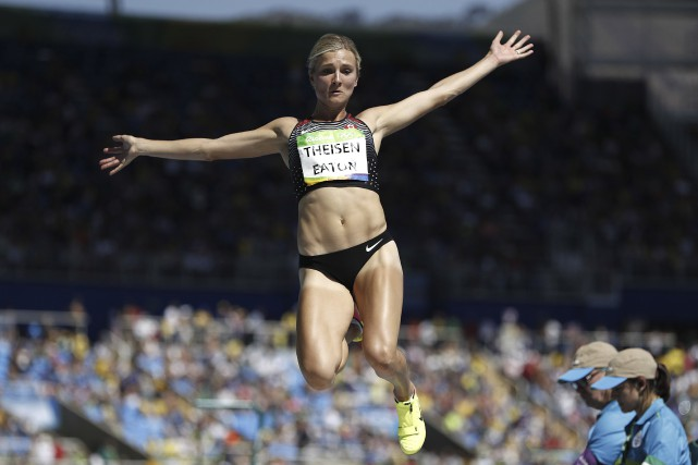 Brianne Theisen-Eaton... (Archives, Agence France-Presse)