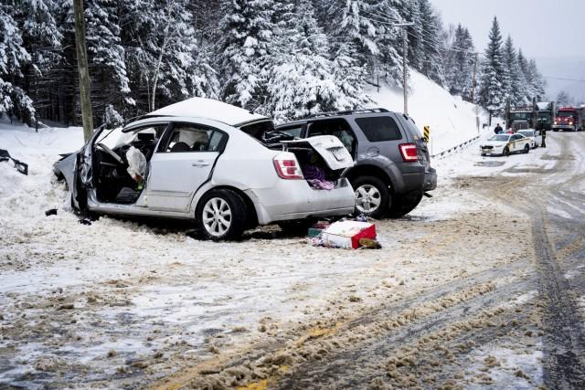 La collision entre les deux véhicules a été... (Caroline Bérubé)