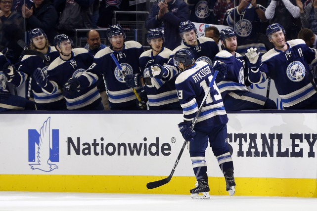 Les Blue Jackets de Columbus n'ont pas perdu... (Photo Russell LaBounty, USA Today Sports)