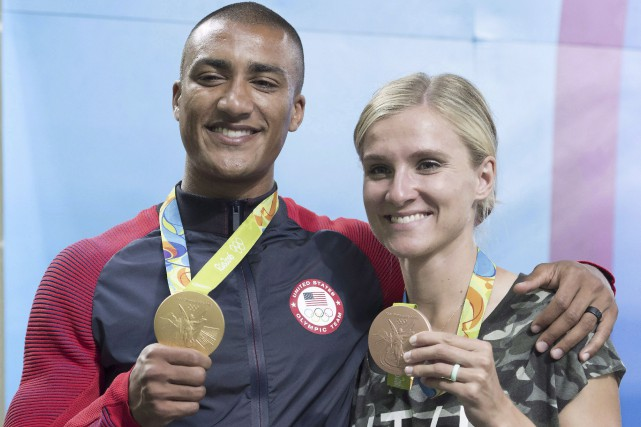 Ashton Eaton et Brianne Theisen-Eaton avaient respectivement remporté... (La Presse Canadienne, Frank Gunn)