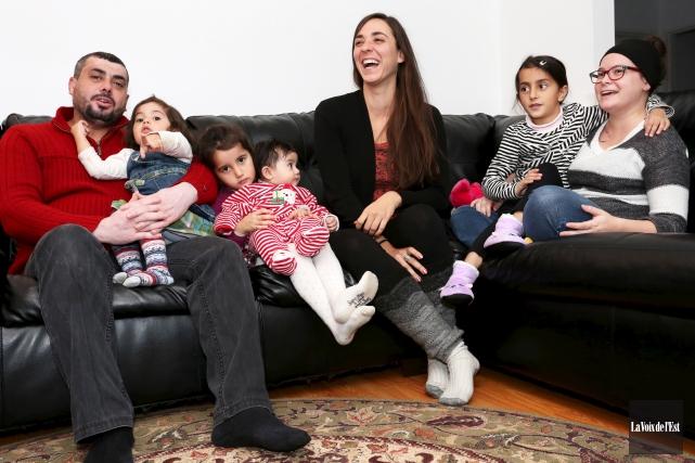 Mahmoud Al Hussein, ses filles Lamar, Aryam, Ayate... (Christophe Boisseau-Dion, La Voix de l'Est)