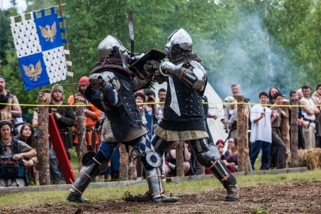 Un combat médiéval au Duché de Bicoline....