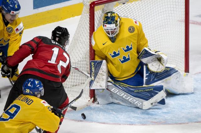 Le Canada a vaincu la Suède pour accéder... (THE CANADIAN PRESS)