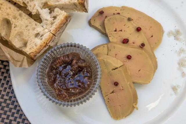 Le foie gras aime la sobriété:choisissez une assiette... (PhotoThinkstock)
