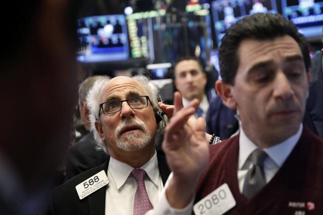 Selon les résultats définitifs, l'indice vedette Dow Jones... (photo REUTERS)