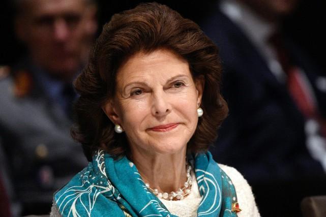 La reine Silvia de Suède.... (Photo Rainer Jensen, archives Agence France-Presse)