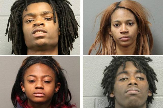 De gauche à droite et de haut en... (photos police de chicago/ap)