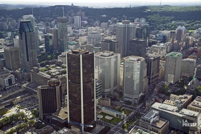 Le coeur financier de Montréal avec, au premier... (Photo David Boily, Archives La Presse)