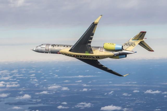 Le jet d'affaires Global 7000 a effectué son... (fournie par Bombardier)