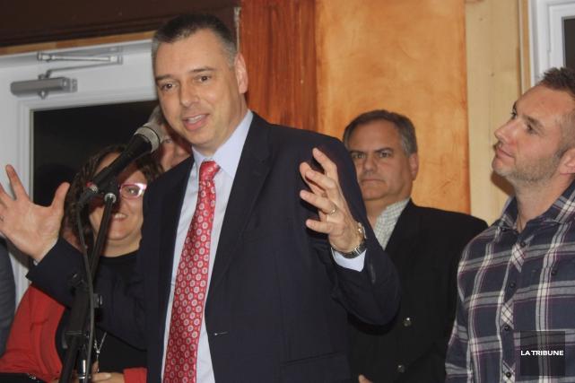 André Bellavance a été élu nouveau maire de... (Archives La Tribune, Yanick Poisson)