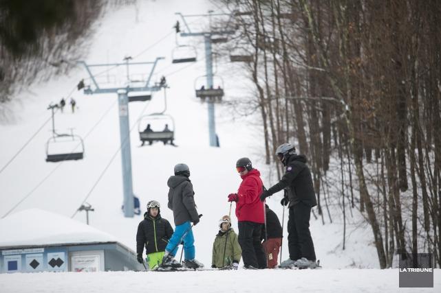 Certes, les chutes de neige sont parfois moins... (Archives La Tribune, René Marquis)