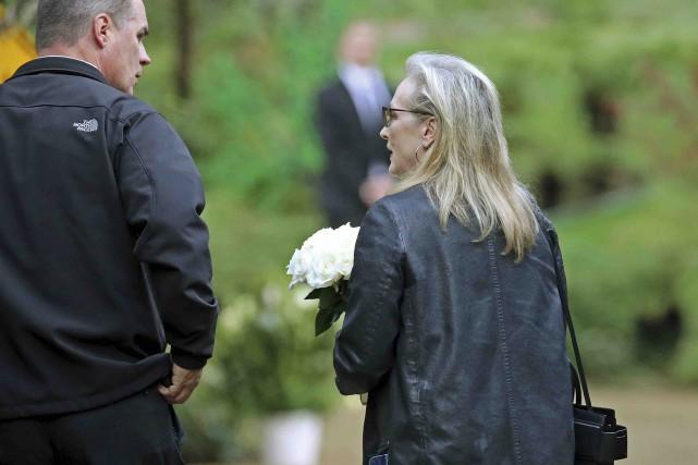 L'actrice Meryl Streep était présente à l'enterrement de... (AP, Reed Saxon)