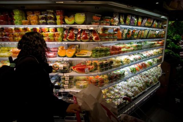 En décembre, le prix du panier d'épicerie a... (Photo André Pichette, Archives La Presse)