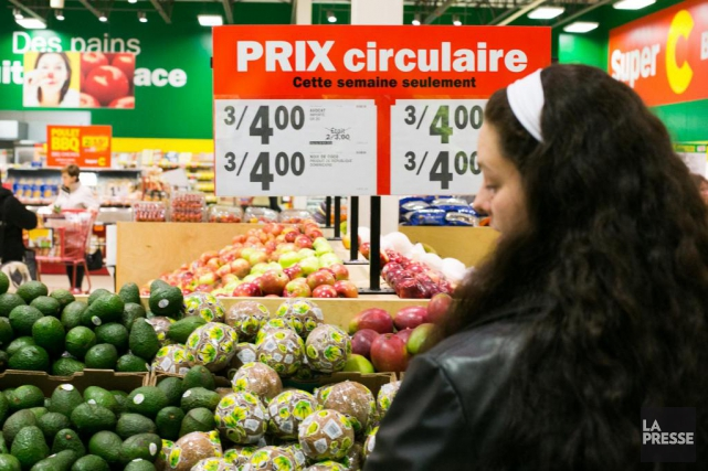 Sur une base mensuelle désaisonnalisée, l'Indice des prix... (Photo Martin Tremblay, Archives La Presse)