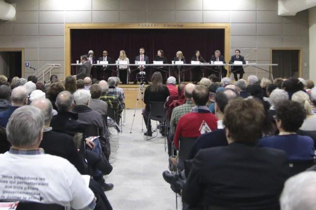 Neuf des dix candidats briguant l'investiture libérale dans... (Etienne Ranger, Le Droit)