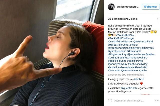 Marion Cotillard s'est endormie lors d'un trajet vers... (Photo tirée du compte Instagram de Guillaume Canet)