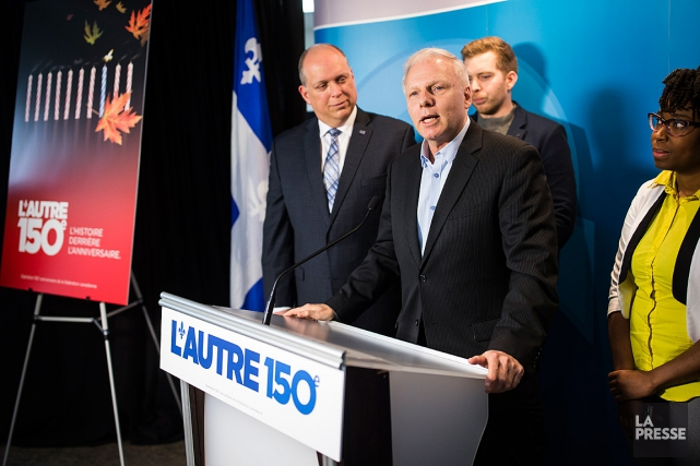 Jean-François Lisées'est présenté à la presse, à Montréal,... (La Presse, Édouard Plante-Fréchette)