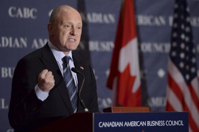 L'ambassadeur des États-Unis au Canada, Bruce Heyman... (Archives, La Presse canadienne)
