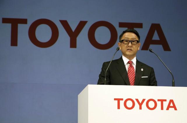 Le pdg de Toyota, Akio Toyoda, a insisté,... (AP)