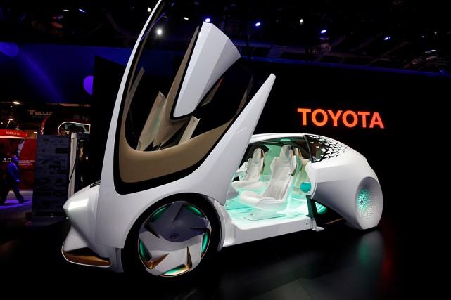 Le «Concept-i», un véhicule imaginé par Toyotaet équipé... (PHOTO STEVE MARCUS, REUTERS)