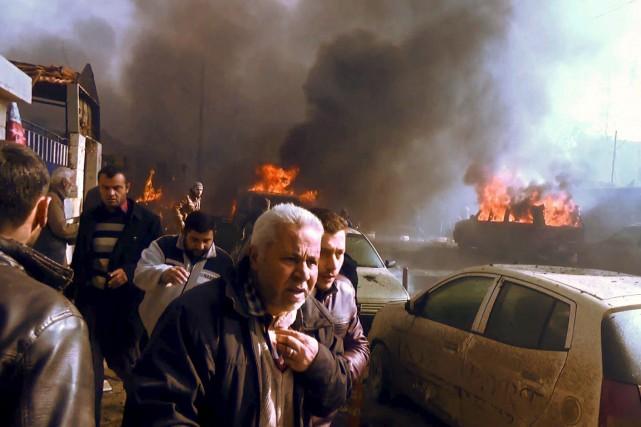 Des images captées tout juste après l'attaque par... (AFP)