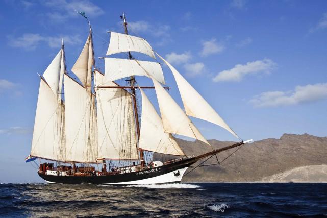 Le plus impressionnant des bateaux attendus à La... (Tirée du site www.oosterschelde.nl)