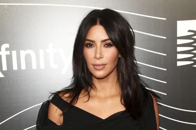 Kim Kardashianétait restée très discrète depuis l'agression.... (AP, Andy Kropa)