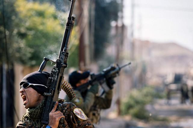 Les soldats irakiens se trouvaient à proximité de... (AFP, Dimitar Dilkoff)