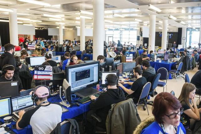 Pendant la compétition du Pixel Challenge, des équipes... (fournie par le Pixel Challenge)