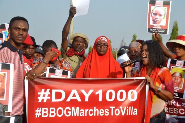 À Abuja au Nigéria, des activistes du groupe... (AFP)