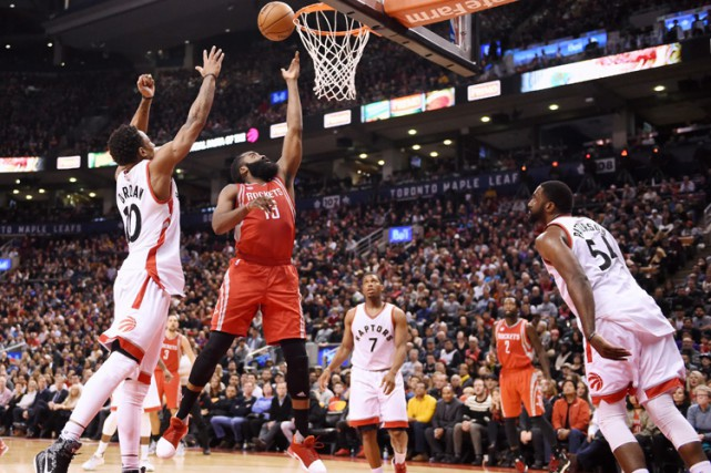 James Harden a inscrit 40 points pour mener les Rockets de Houston vers une... (PHOTO PC)